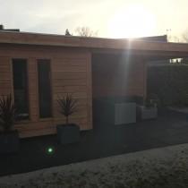 Tuinhuis met veranda te Drachten