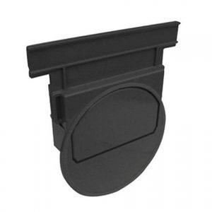 Nicoll® kopschot voor afvoergoot Connecto 100, dicht bewerkt, zwart