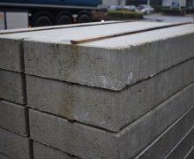 Betonplaat 80x120x12cm grijs met hijsvoorziening
