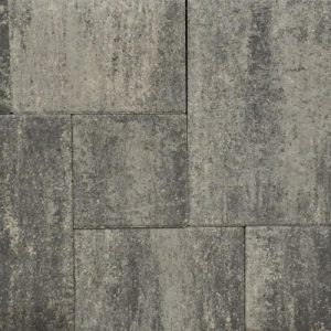 terras-steen+ wildverband grezzo - grijs/zwart