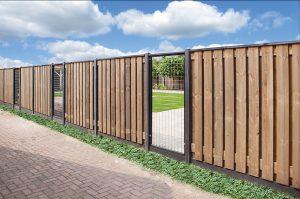 betonschutting systeem, hout-betonsystemen