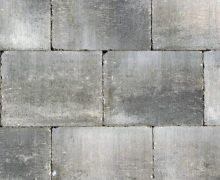 Abbeystones 20x30x6cm grijs/zwart Grezzo Getrommelde betonstenen in een prachtig genuanceerde kleur voor terras, pad en oprit; authentiek; zomers; getrommeld