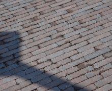 Abbeystones 20x5x7cm gesmoord bruin getrommelde waalformaat betonsteen