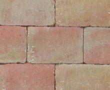 Abbeystones 20x30x6cm Toscaans Getrommelde betonstenen in een prachtig genuanceerde kleur voor terras, pad en oprit; authentiek; zomers; getrommeld