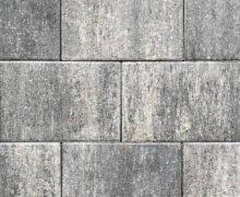 grijs /zwart opritsteen of terrassteen; beton; 20x30 formaat; grijs zwart