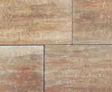 Gemeleerde en kleurrijke tegels voor het terras, pad of oprit vindt u ook bij Totaal Bestrating; kleurrijke betontegels,