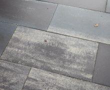 60Plus Soft Comfort 40x80x4cm Grigio genuanceerde betontegels donker gekleurd