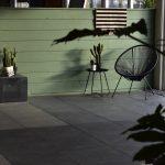Optimum liscio graphite gecombineerd met de decora tegels