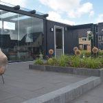 smartton xxs 60x60 tegels met antraciete veranda