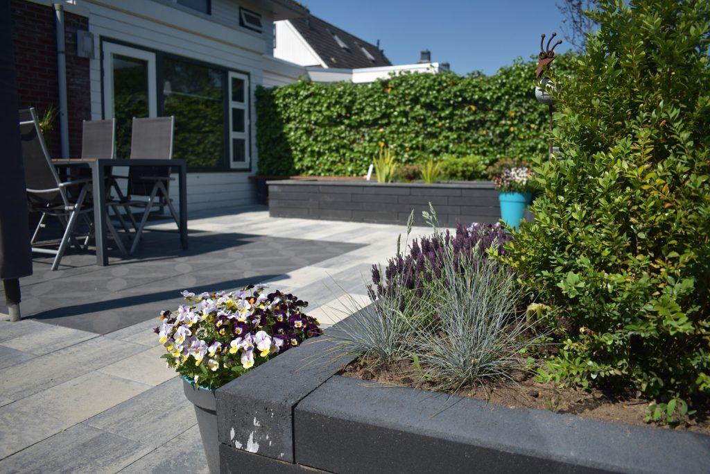 optimum decora graphite rose, Soft comfort 30x60x4cm Grezzo en linia palissades 10x15x60cm antraciet