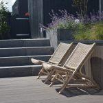 Rehau vlonderplanken met oud hollandse traptreden antraciet