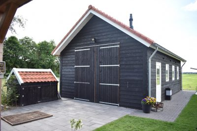 Douglas garageschuur 6x10m zwart