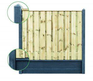 beton-schutting systeem 2 onderplaten antraciet