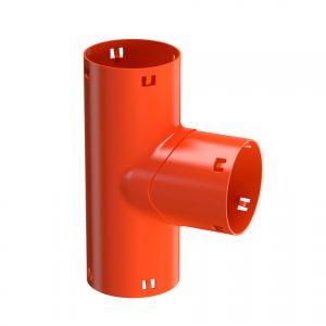 Pvc-klik T-stuk 90° voor drainagebuis