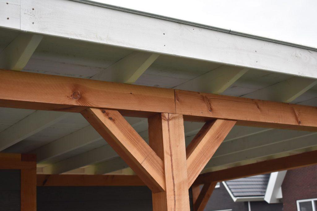 Douglas overkapping met wit plafond