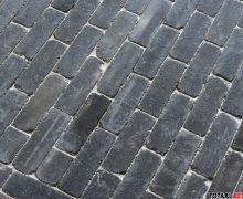 Dikformaat getrommeld antraciet, autenthieke betonsteen dikformaat antraciet