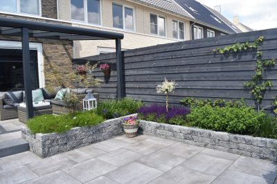 Noviton Hood 60×60, Catrock getrommeld & aluminium veranda