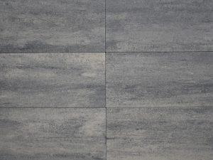 60Plus Soft Comfort 40x80x4cm grijs/zwart langwerpige terrastegels grijs antraciet genuanceerd