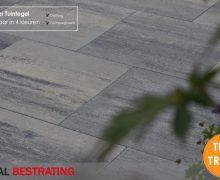 Aanbieding goedkope betontegels antraciet en grijs