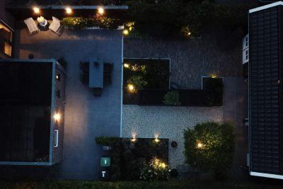 Tuin met in-lite verlichting
