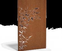 Cortenstaal panelen bamboe links