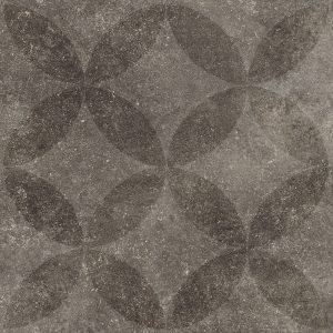Solostone 70x70x3.2cm Hormigon Antracite Flower Decor vtwonen