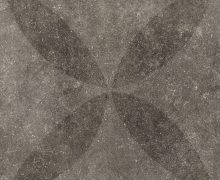Solostone 70x70x3.2cm Hormigon Antracite Flower Decor