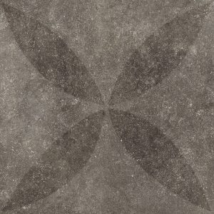 Solostone 70x70x3.2cm Hormigon Antracite Flower Decor