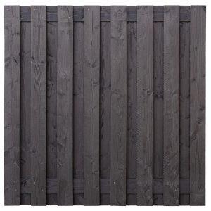 Tuinscherm Sabien 180x180cm zwart