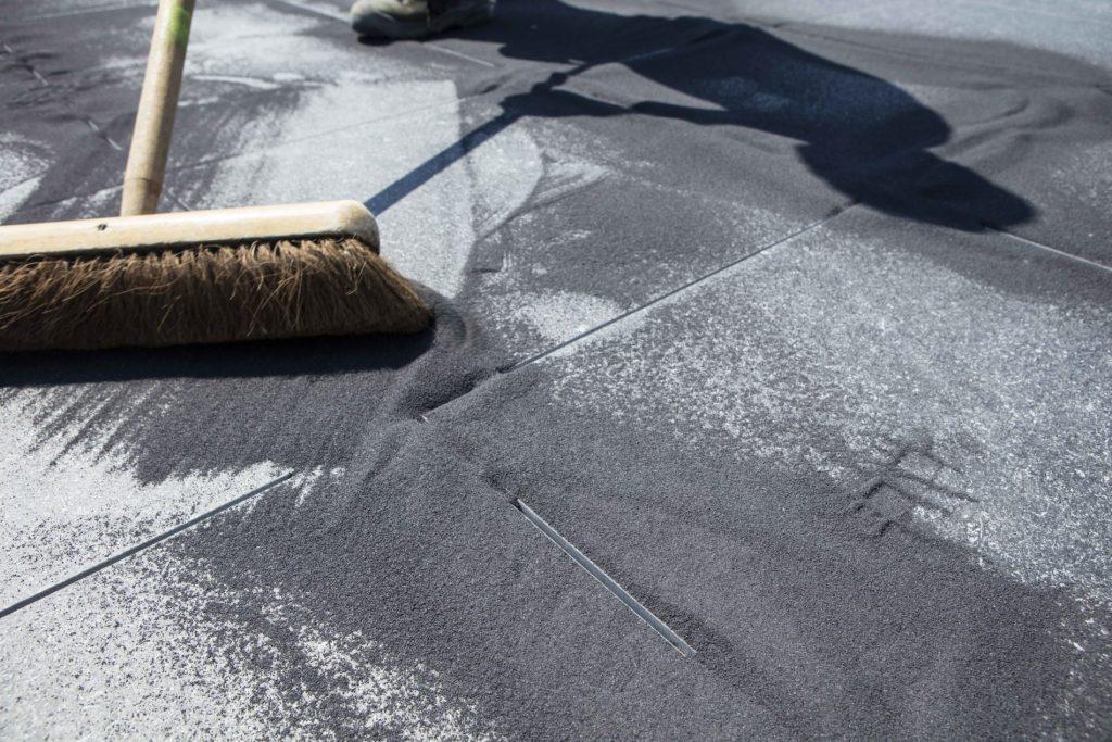Tegels & bestrating voegen met zand